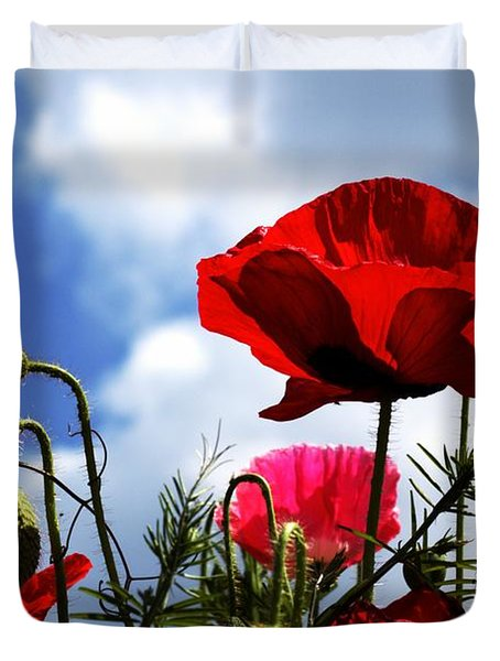 The Summer Poppy Duvet Cover