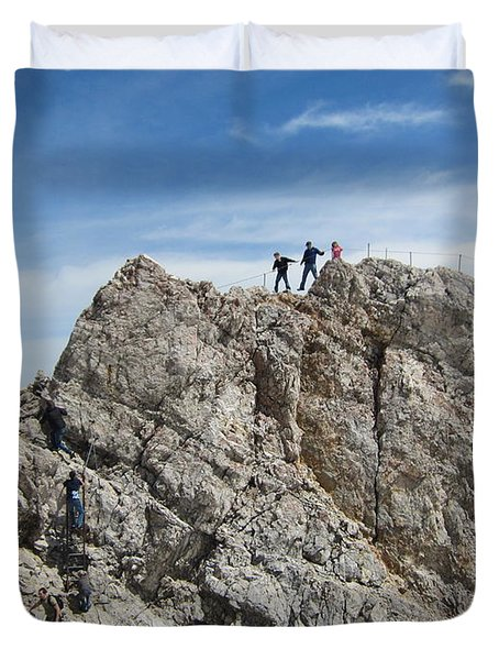 Duvet Cover featuring the photograph The  Summit - 1 by Pema Hou