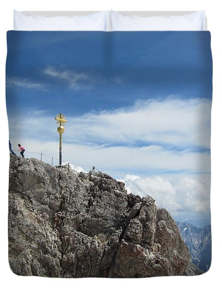 Duvet Cover featuring the photograph The Summit by Pema Hou