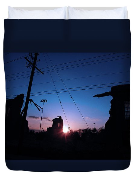 The Sun Also Rises On Ruins Duvet Cover