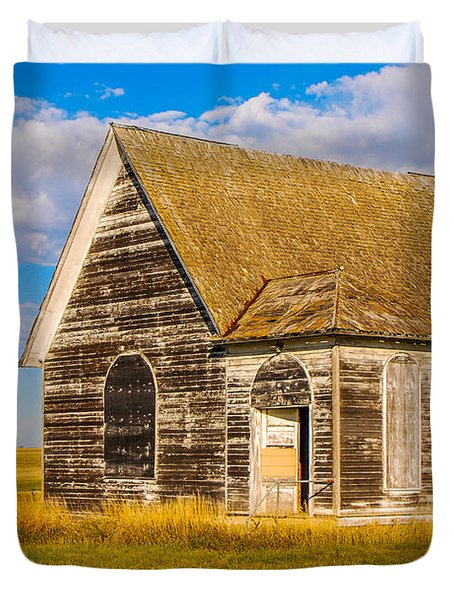 The Sunbeam Church Duvet Cover