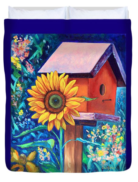 The Sunflower Suite Duvet Cover by Eve  Wheeler