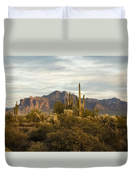 The Superstition Mountains Duvet Cover