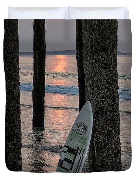 The Surf Awaits Duvet Cover
