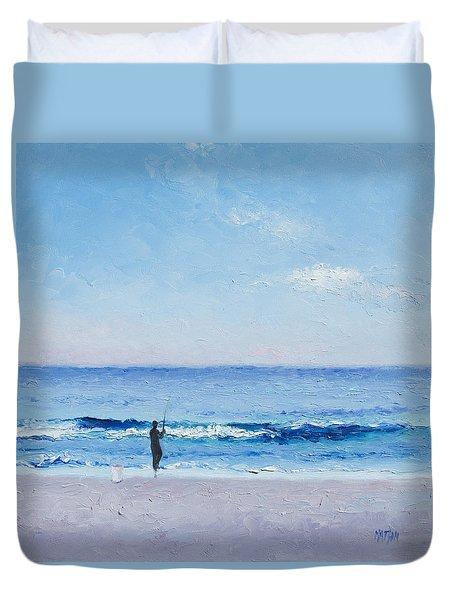 The Surf Fisherman Duvet Cover