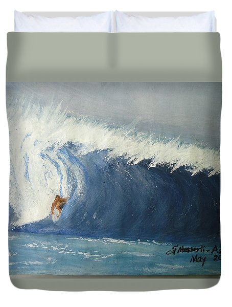 The Surfing Duvet Cover by Fladelita Messerli-