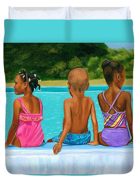 The Swim Lesson Duvet Cover