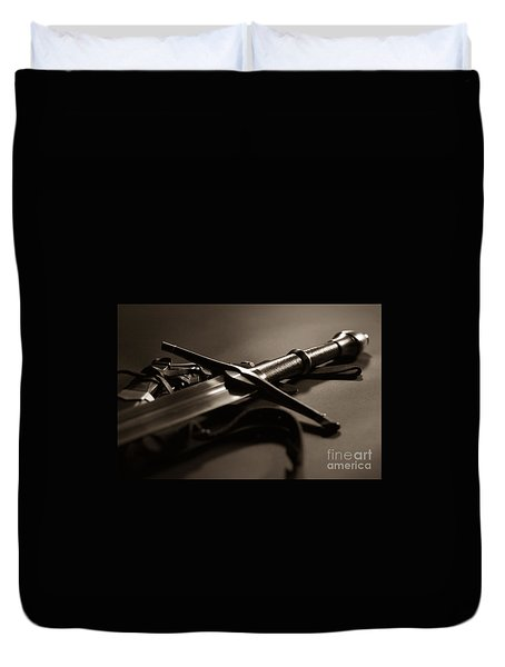 The Sword Of Aragorn 2 Duvet Cover by Micah May