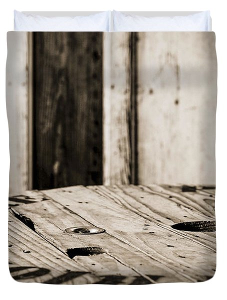 Duvet Cover featuring the photograph The Table by Amber Kresge