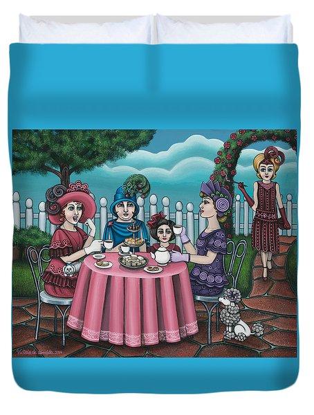 The Tea Party Duvet Cover by Victoria De Almeida