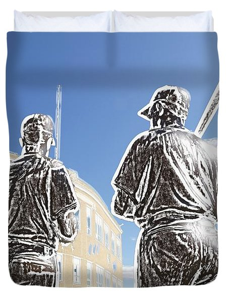 The Teammates Duvet Cover by Alice Gipson
