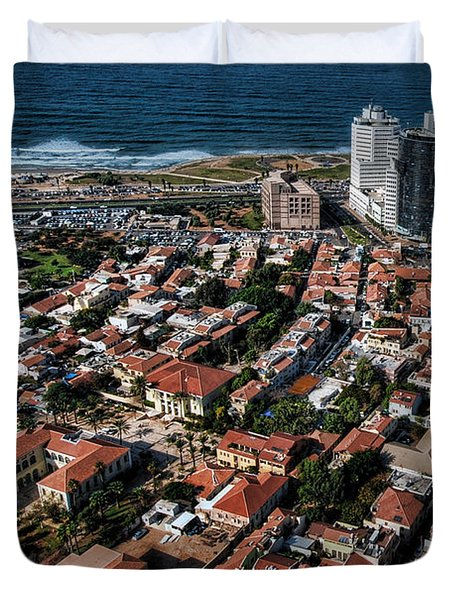 Duvet Cover featuring the photograph the Tel Aviv charm by Ron Shoshani
