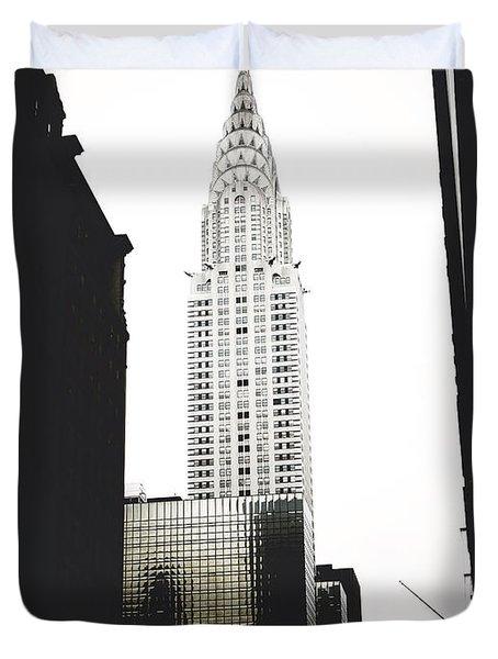 The Terraced Crown Of Manhattan Duvet Cover