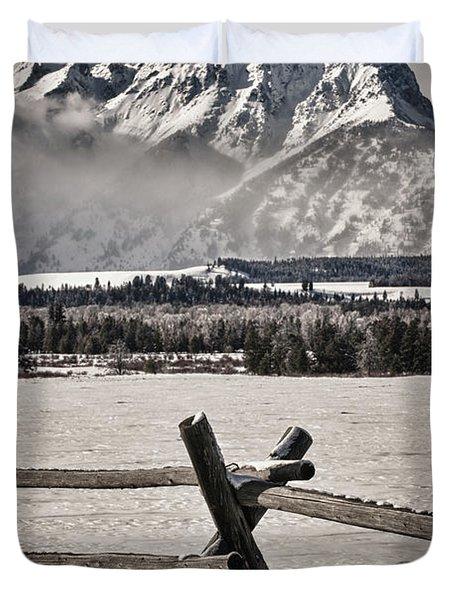 The Teton Mountain Range Duvet Cover