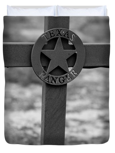 Duvet Cover featuring the photograph The Texas Ranger by Amber Kresge