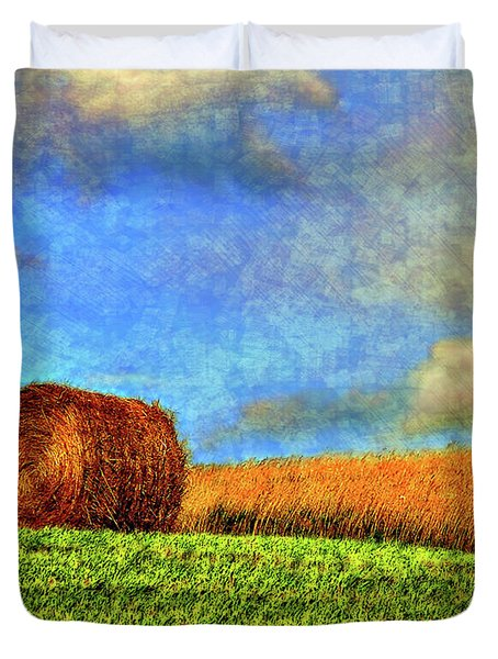 The Textures Of Autumn Duvet Cover by Steve Harrington