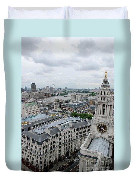 The Thames From St Paul's Duvet Cover