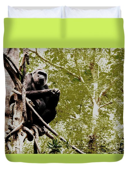 The Thinker Duvet Cover