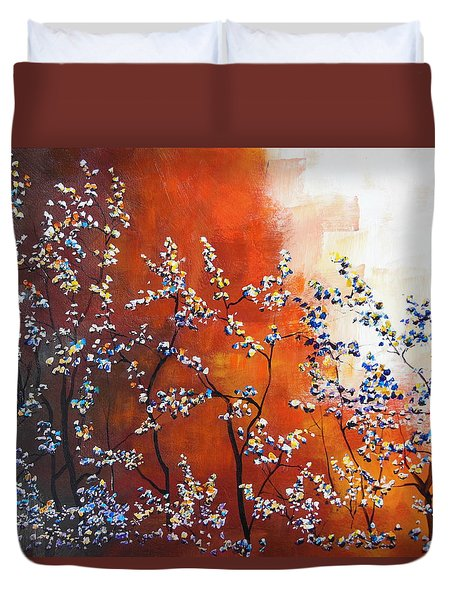 Duvet Cover featuring the painting The Third Day by Dan Whittemore