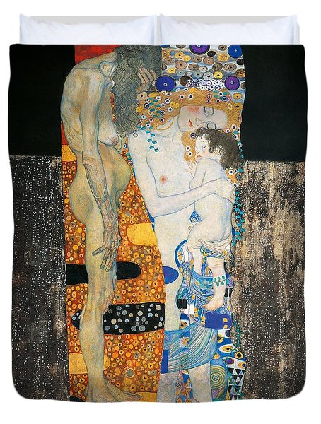 The Three Ages Of Woman Duvet Cover by Gustav Klimt
