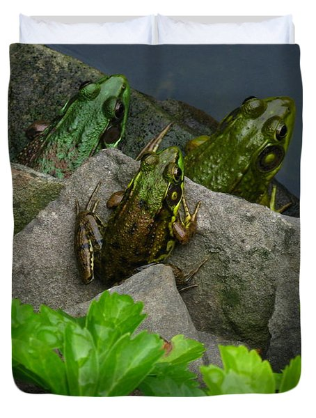 Duvet Cover featuring the photograph The Three Amigos by Raymond Salani III