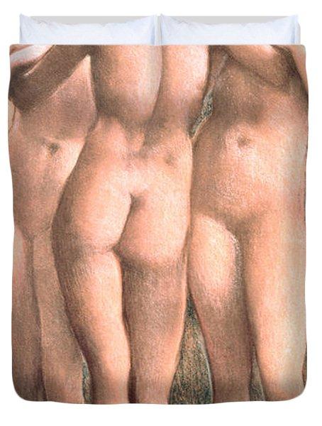 The Three Graces Duvet Cover