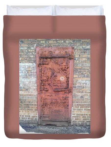 The Three Heart Door. Duvet Cover
