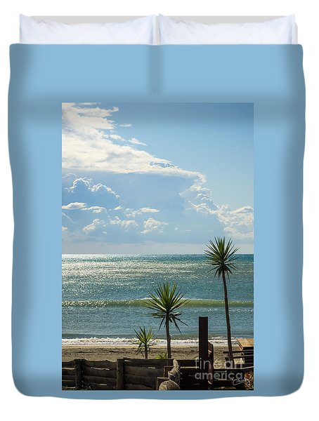The Three Palms Duvet Cover