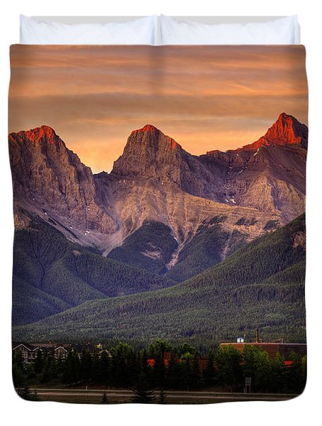 The Three Sisters Canmore Duvet Cover