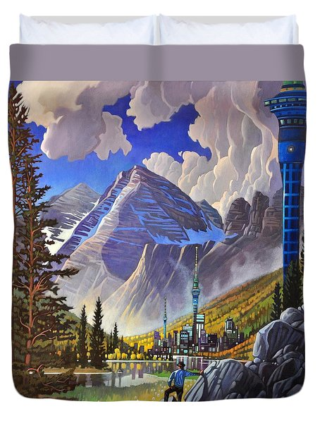 The Three Towers Duvet Cover by Art James West