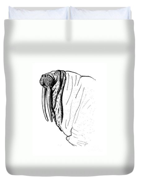 The Time Has Come The Walrus Said Duvet Cover