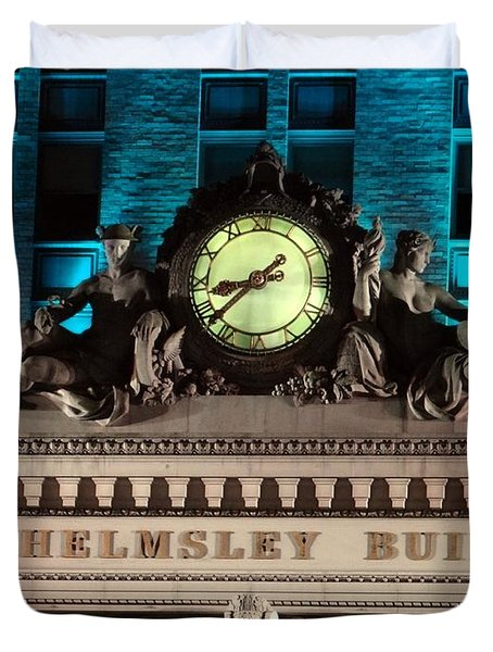 The Time Keepers Duvet Cover by Ed Weidman