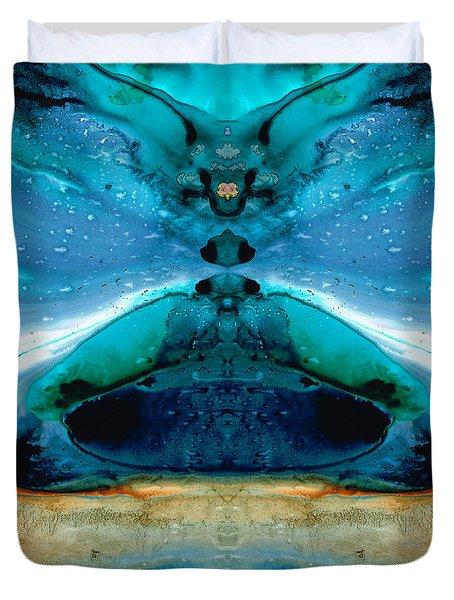 The Time Traveler - Surreal Fantasy Art By Sharon Cummings Duvet Cover