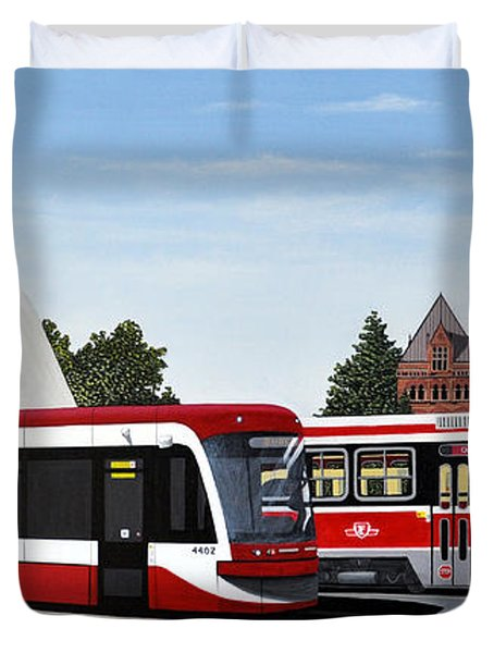 The Toronto Streetcar 100 Years Duvet Cover