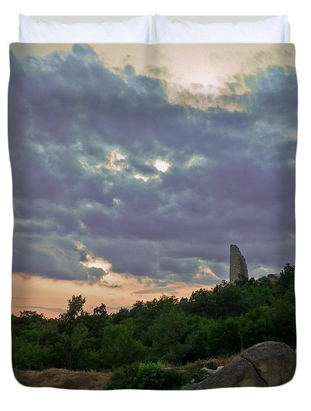 Duvet Cover featuring the photograph The Tower by Eti Reid