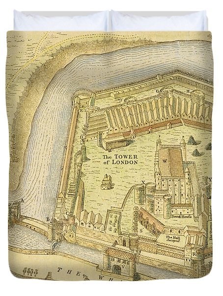 The Tower Of London, From A Survey Made Duvet Cover by English School