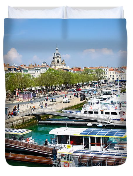 The Town And Port Of La Rochelle Duvet Cover