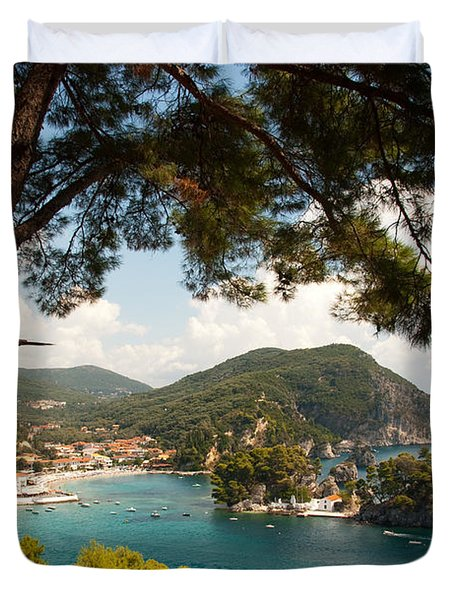 The Town Of Parga - 2 Duvet Cover