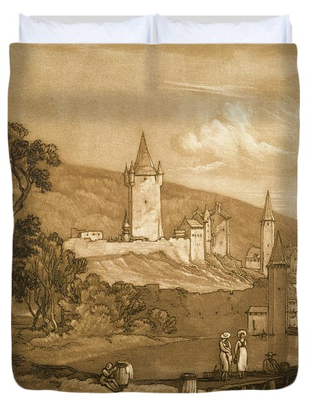 The Town Of Thun Duvet Cover by Joseph Mallord William Turner