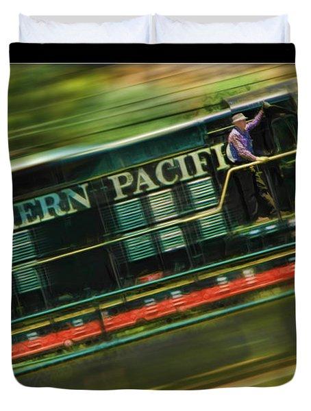 The Train Ride Duvet Cover