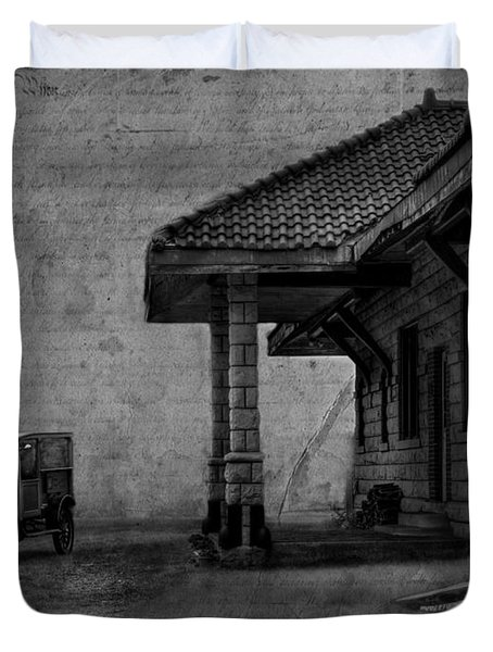 The Train Station Duvet Cover