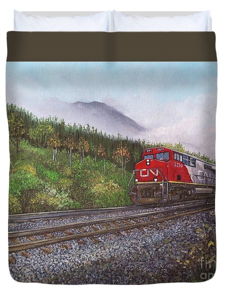 The Train West Duvet Cover by Reb Frost