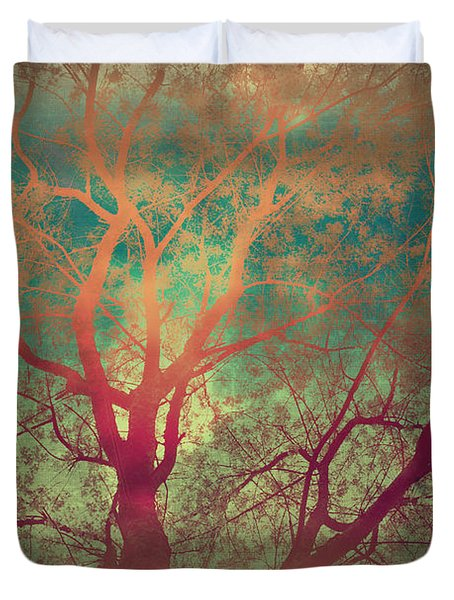 The Tree Called Beautiful Duvet Cover by Gray  Artus