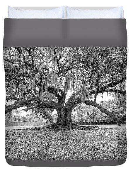 The Tree Of Life Monochrome Duvet Cover by Steve Harrington