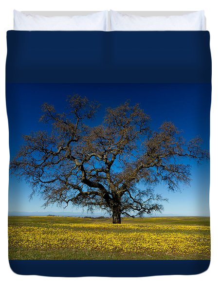 The Tree On Table Mountain Duvet Cover