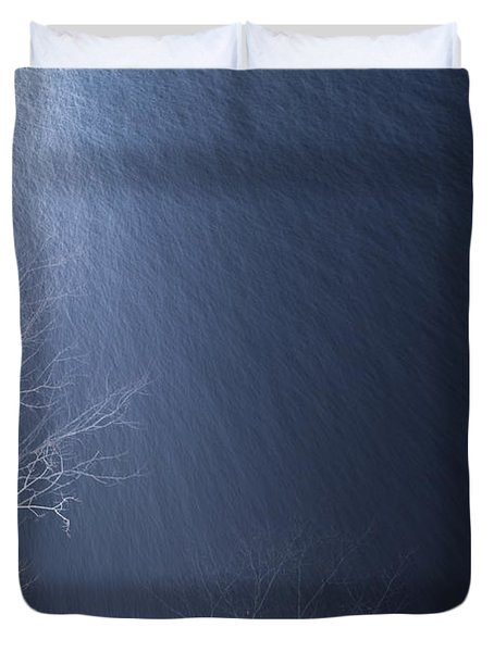 The Tree Under The Snowfall Duvet Cover