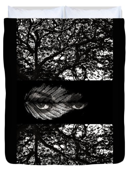 The Tree Watcher Duvet Cover by Nola Lee Kelsey
