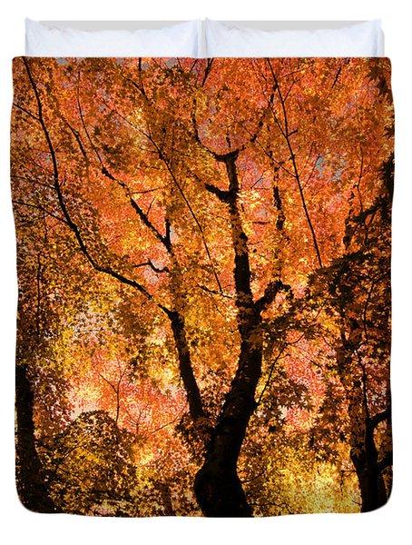 The Trees Dance As The Sun Smiles Duvet Cover