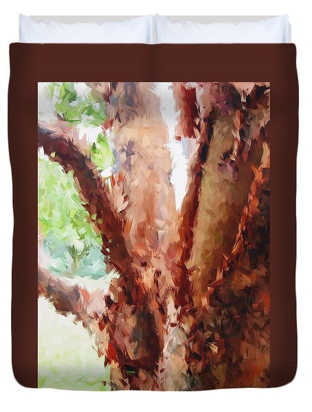 The Trees In Spring Time Duvet Cover
