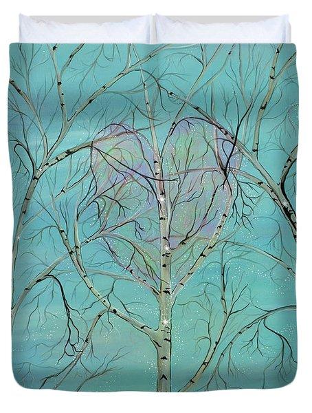 The Trees Speak To Me In Whispers Duvet Cover by Deborha Kerr